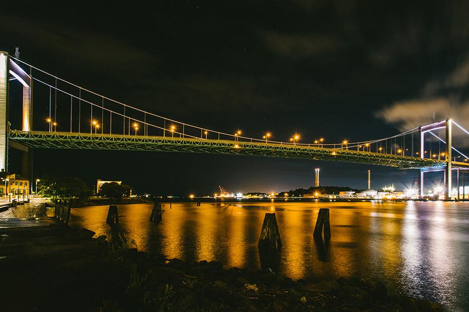 Nattlig Älvsborgsbro, Göteborg, Fotograf Anders Östman