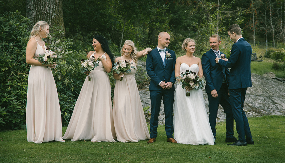 Bröllopsfotograf Anders Östman, Bröllopsfotografering, Villa Vanahem